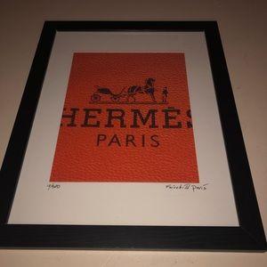 Hermès Paris monogram Fairchild Paris art